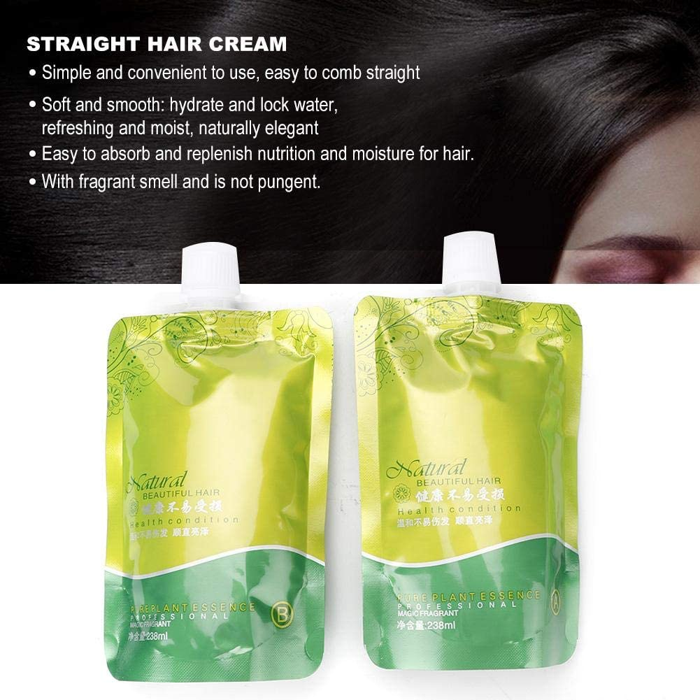 Straight Hair Cream, 2pcsSet Hair Softener Styling Cream
