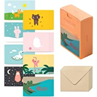Monolike Message Befriend Card - Mix 40 Mini Postcards, 20 envelopes Package
