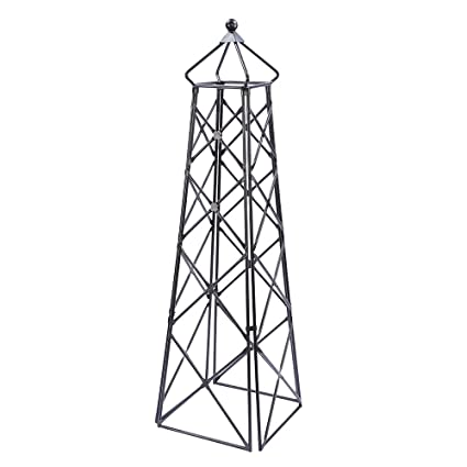 Amazon.com : Achla Designs OBL 25 Lattice Wrought Iron Garden Obelisk  Trellis, Graphite : Trellises : Garden U0026 Outdoor
