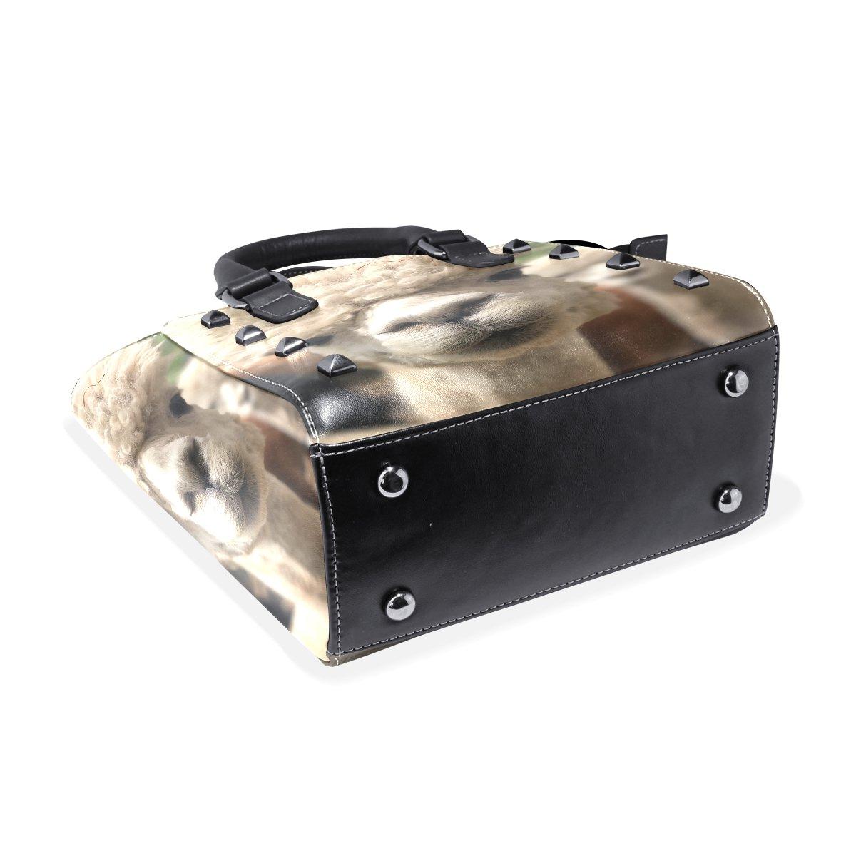 imobaby Animal Alpaca PU Leather Girls Top-Handle Handbags Single-Shoulder Ladies Tote Crossbody Bag Messenger Bags For Women