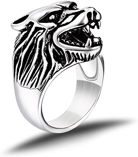Mens Statement Ring Biker Ring Unique Mens Ring Ring Large Ring. Mens Gifts Bulldog Mens Ring