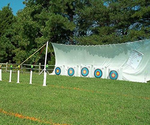 BowZoo Premium Archery Backstop Safety Netting 10' x (Backstop Pad)