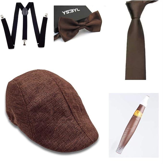 thematys Sombrero mafioso Al Capone + Pajarita + Tirantes + ...