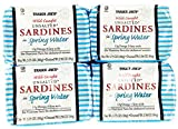 Trader Joe's Wild Caught Unsalted Sardines in Spring Water 4 Pack For Sale