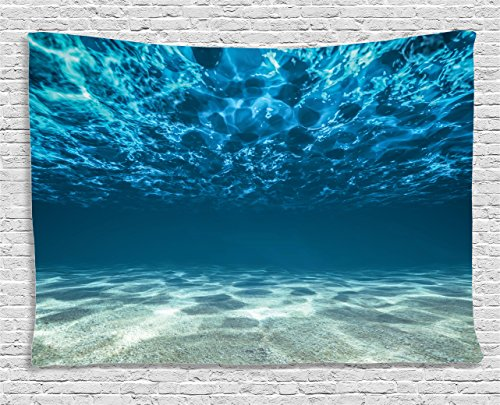 Ambesonne Collection Gravelly Tropical Underwater