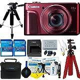 Canon PowerShot SX720 HS Digital Camera (Red) + Deal-Expo Accessories Bundle