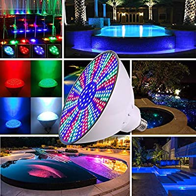 Pool lights 12V 36W color Changing, LED Pool Light for Inground Pool Replacement Swimming Pool Lights for Pentair Hayward Light, Remote Control and Switch Control E26 Medium;CAUTION:USE 12V ONLY : Garden & Outdoor