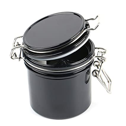 1 Pc Glue Storage Container Eyelash Extensions Adhesive Jar Leak Proof Glue Storage Tank Sealed Cans Eyelash Extension Supplies Kit(Black) by Ouken