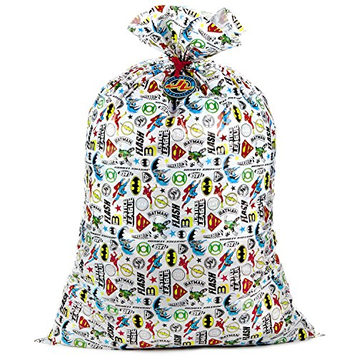 Hallmark Large Plastic Gift Bag for Birthdays, Parties, or Any Occasion (Justice League)