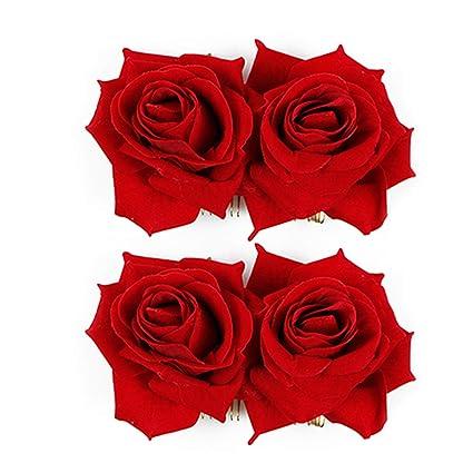 site professionnel conception adroite choisir authentique WBCBEC Paquet de 2 Pince à cheveux Fleur Rose Femme ...