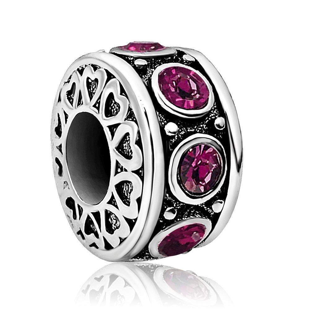 JMQJewelry Heart Love Birthday Jan-Dec Birthstone Charms Beads Bracelets JMQ-AL-JO-009_X04