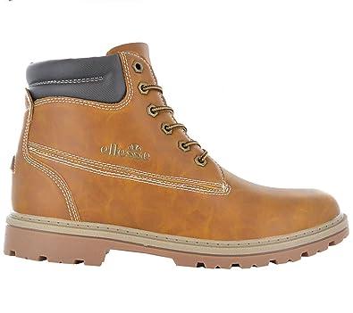 ellesse Italia Oslo Herren Boots Brun Chaussures Homme Baskets Top ... f77e8e797644