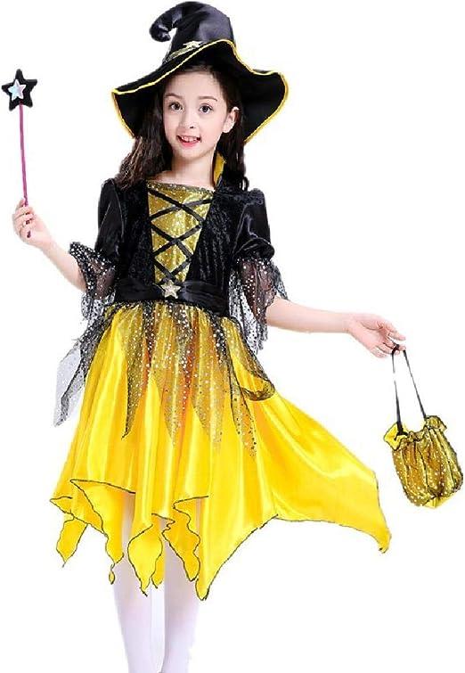ZJTZ Disfraces Cosplay Disfraz de Bruja mágica para niñas Vestido ...