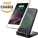 Wireless charger - Samsung Wireless Charger - Wireless Charging Stand - Fast QI Wireless Charger - Samsung Galaxy S8 S7 S6 and Note – Apple iPhone 8 and Apple iPhone X QI Wireless Charging