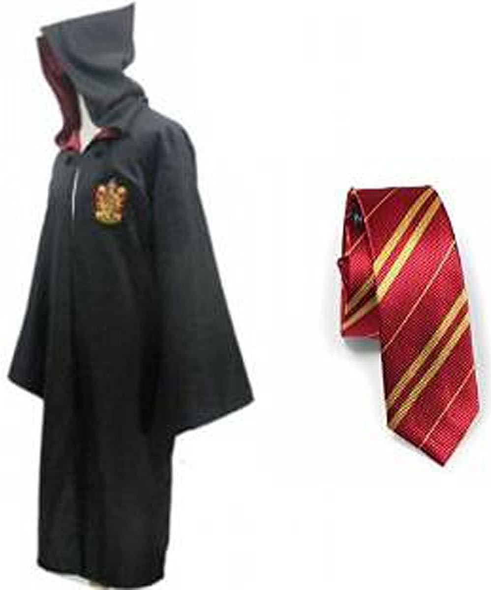 Harry Potter Kost/üm J/ünger Erwachsene Gryffindor Slytherin Ravenclaw Hufflepuff Adult Child Unisex Schule lange Umhang Mantel Robe--Slytherin,S for adult
