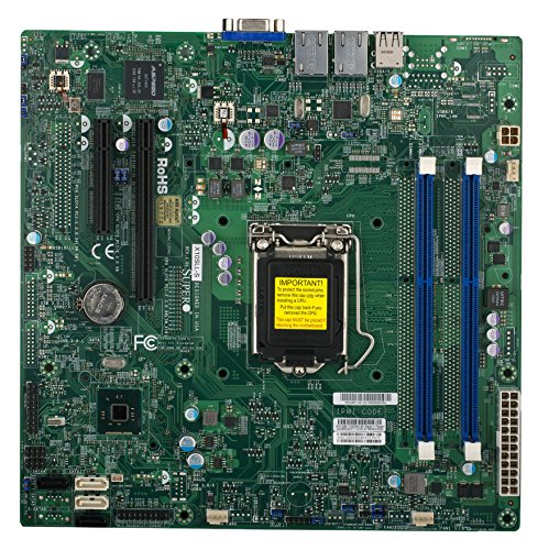 Supermicro Ethernet Motherboard (Supermicro Motherboard Micro ATX DDR3 1600 LGA 1150 Motherboards X10SLL-S-O)