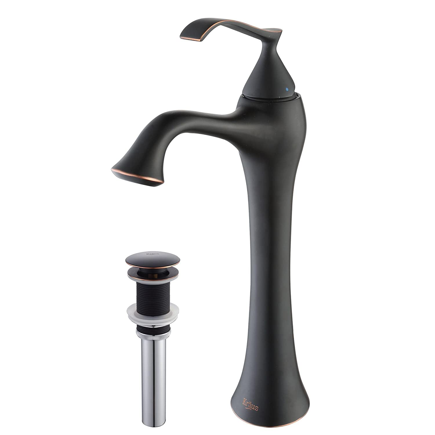 Attractive Kraus KEF 15000 PU15ORB Ventus Single Lever Vessel Bathroom Faucet With Pop  Up Drain Oil Rubbed Bronze   Bathroom Sink Faucets   Amazon.com