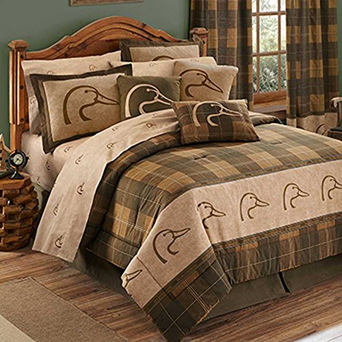 Ducks Unlimited Plaid Comforter Set - Queen Size