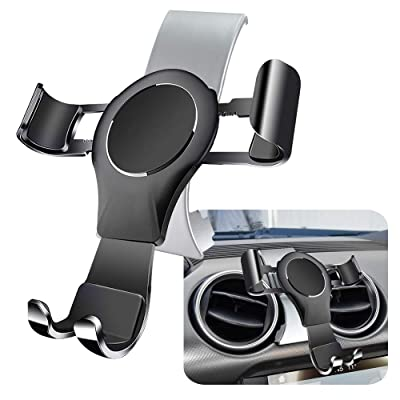 LUNQIN Car Phone Holder for Ford Mustang 2016-2020 Auto Accessories Navigation Bracket Interior Decoration Mobile Cell Phone Mount