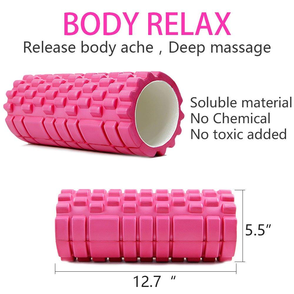 ヨガコラム フィットネス フォーム ヨガピラティス ローラー ブロックトレーニングジムマッサージグリッドトリガーポイントセラピー(Color : ピンク)Yoga column fitness form yoga pilates roller block training gym massage grid trigger point therapy (Pink)   B01M2VJ42V