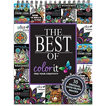 The Best Of ColorIt Adult Coloring Book