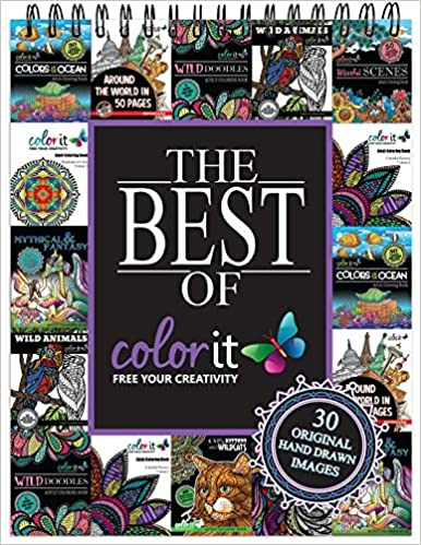Amazon The Best Of ColorIt Adult Coloring Book