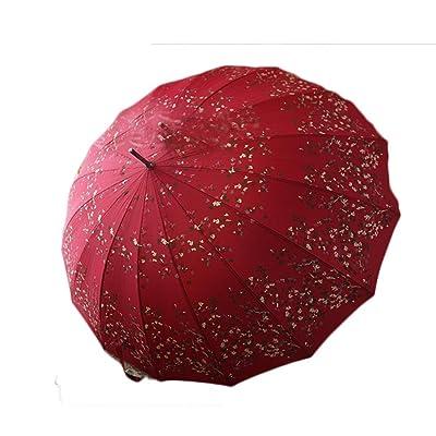 SEABECCA Parapluies coupe-vent Longue poignée Parapluies droites
