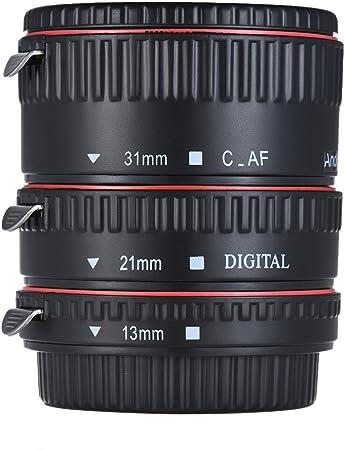 Andoer Macro Auto Focus Adapter Set 3 Piece 13 Mm 21 Mm Camera Photo