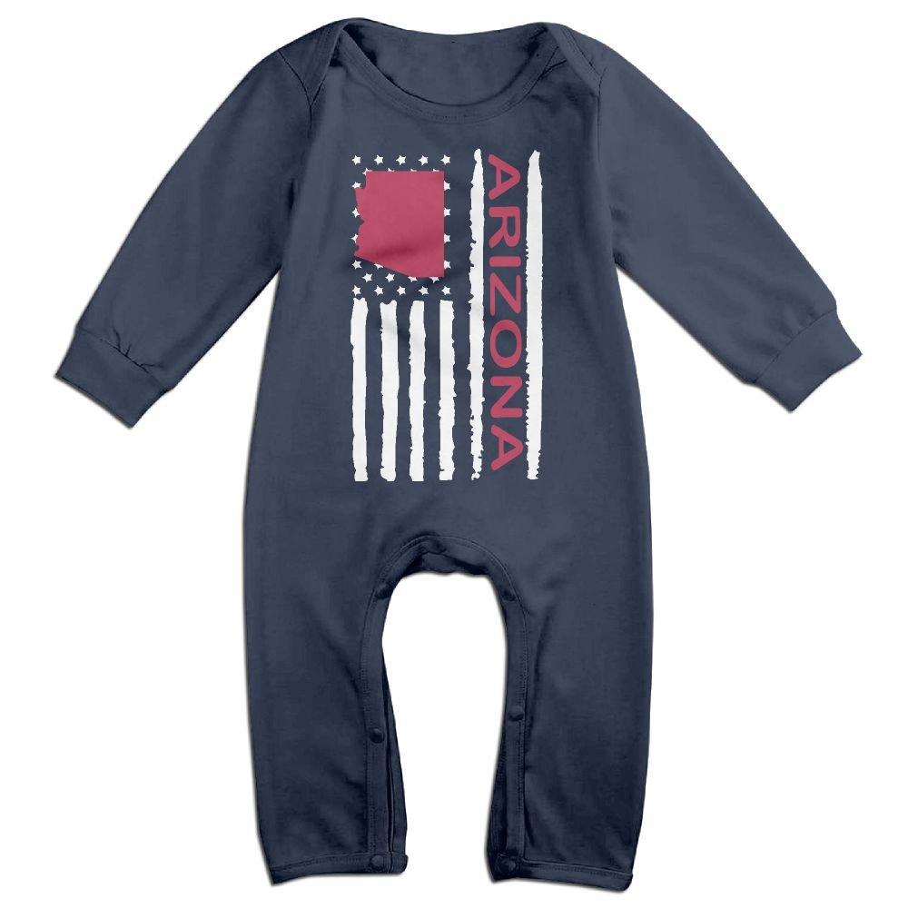 Newborn Baby Bodysuits Vintage Arizona State America Flag-1 Baby Rompers
