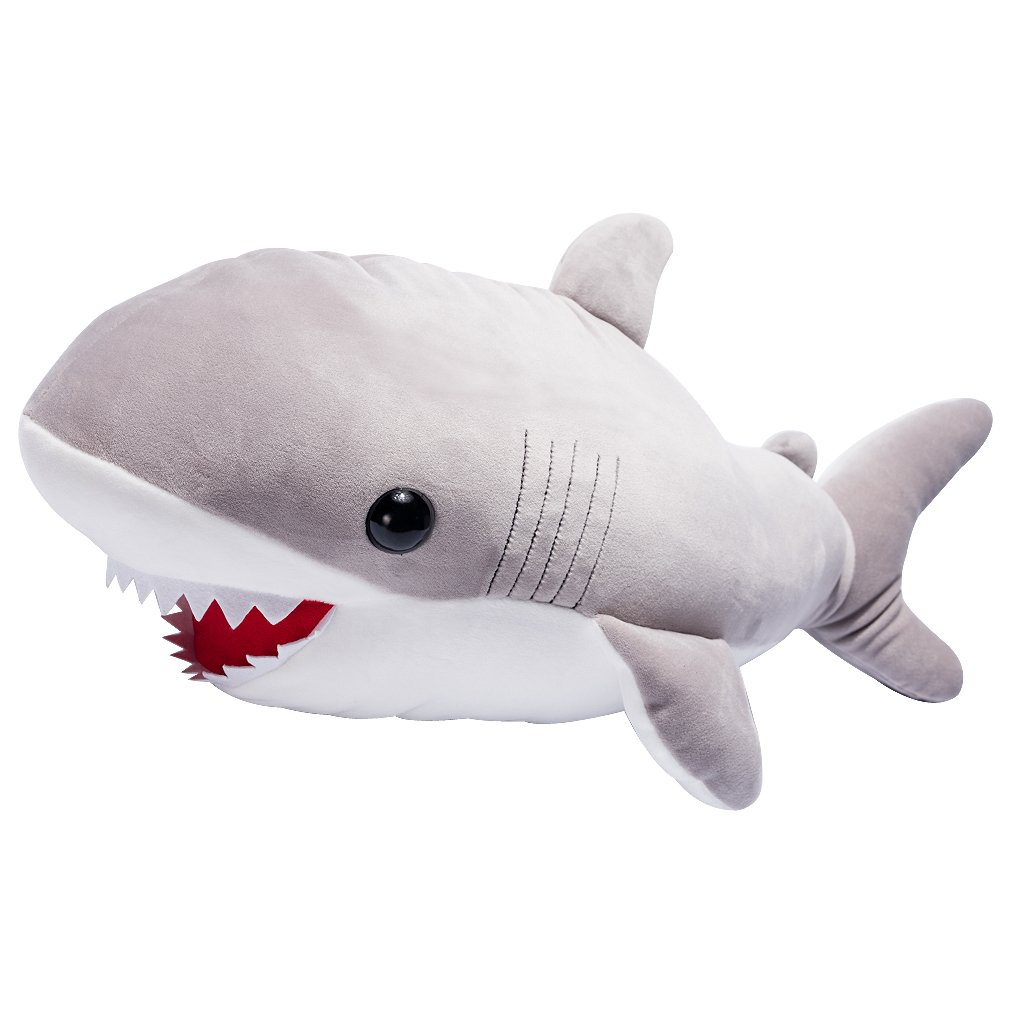 LALA HOME 28'' Shark Stuffed Animals | Neat Soft Large Body Pillow | Plush Ocra Fish Soothing Toy | Children's Gifts