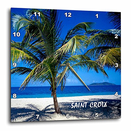 3dRose dpp_80874_2 Saint Croix Virgin Island Wall Clock, 13 by 13-Inch