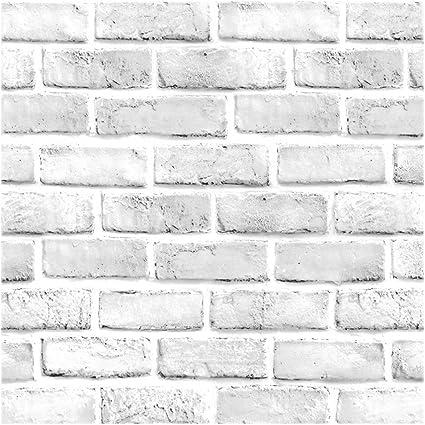 Glow4u Vintage White Brick Pattern Contact Paper Self Adhesive Vinyl Wallpaper For Living Room Bedroom Kitchen Bathroom Wall Decor 45cm X 5m Amazon Co Uk Kitchen Home