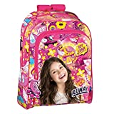 Backpack Soy Luna Freestyle Mochila grande de escuela, adaptable, 43x 32x 14centímetros