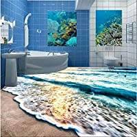 Sproud 3D Floor Custom Murals Beach Blue Sea Ripple Non - Slip Waterproof Thickening Self - Adhesive Floor Carta Da Parati by sproud