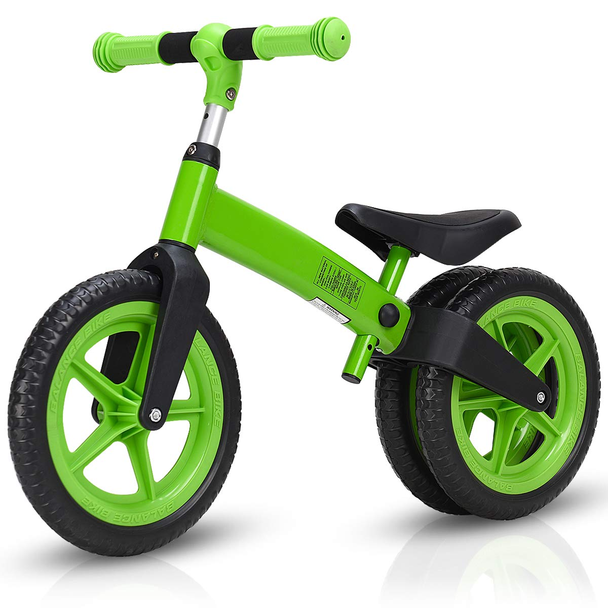Costzon Kids Balance Bike, Classic Lightweight No-Pedal Learn to Ride Pre Bike w/Adjustable Handlebar & Seat Cycling Training for Kids and Toddlers, Walking Bicycle (Green)