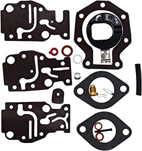 Carburetor Repair Kit for Johnson Evinrude 6 8 9.9 15 20 HP 439073, 431897, 0439073 Engines, for Sierra Carb Kit 18-7219