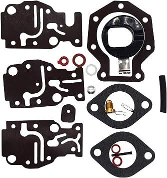 Carb Carburetor Rebuild Kit For Johnson Evinrude 439073 431897 6 8 9.9 15 20 HP