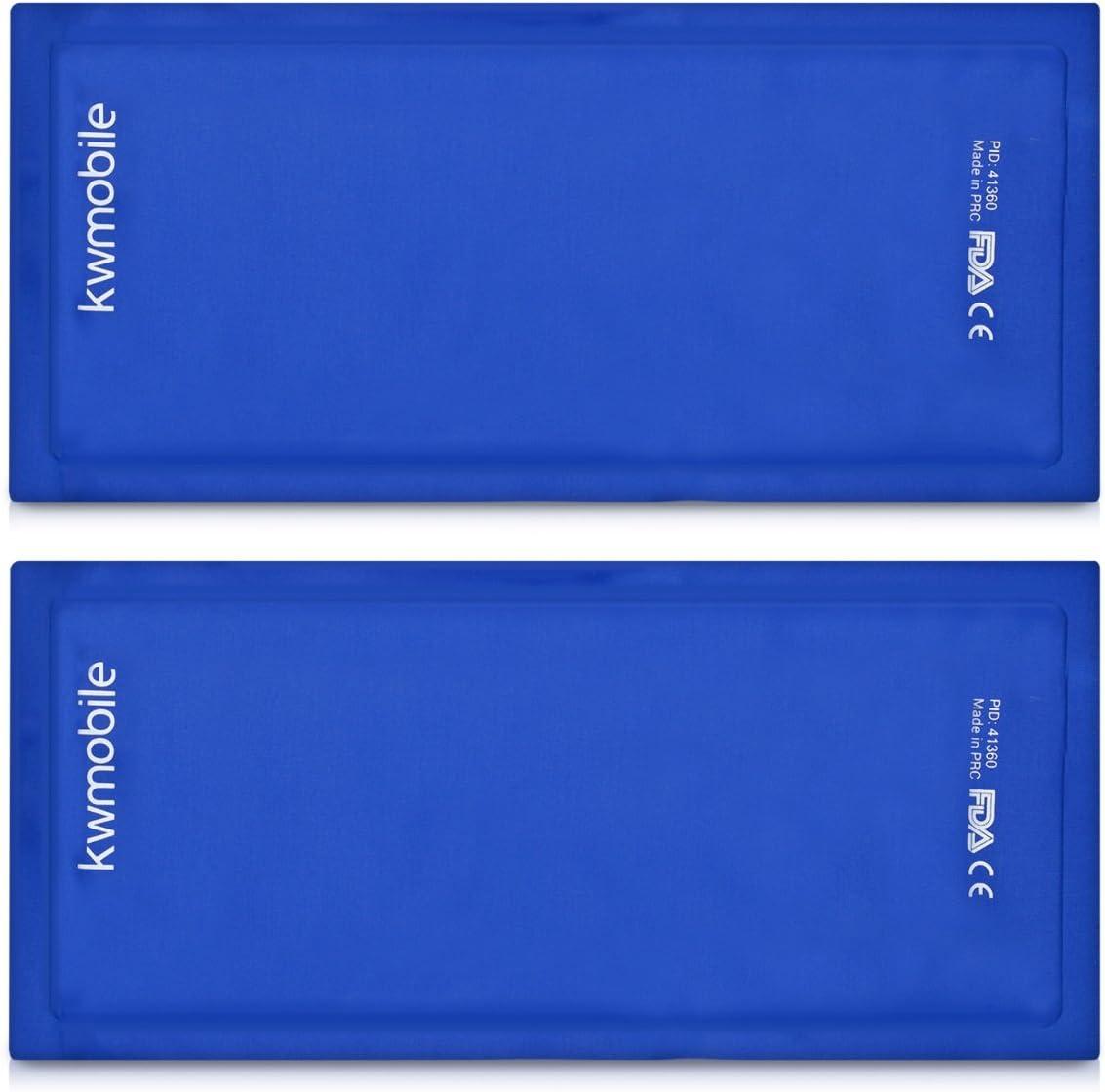 kwmobile 2x Compresa de gel frío y calor - Reutilizable y universal - Gel frío para lesiones de espalda hombro brazo riñones lumbares y rodilla