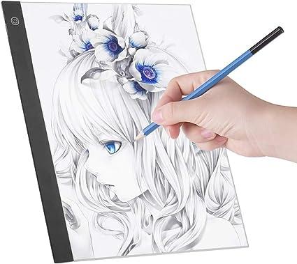 Light Pad, LED A3 Panel de luz Tablero digital de copiado de tableta digital para trazado Copia de dibujo: Amazon.es: Oficina y papelería