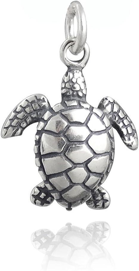 925 Sterling Silver Ocean Beach Reptile Marine Tortoise NEW Sea Turtle Charm