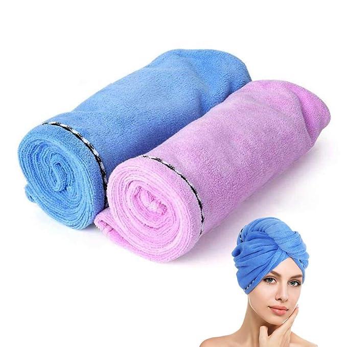 superabsorbente y turbante para cabellos secos y suaves ITODA toalla de ba/ño gruesa de terciopelo el/ástica para ni/ños y ni/ñas Toalla para el cabello de secado r/ápido de microfibra