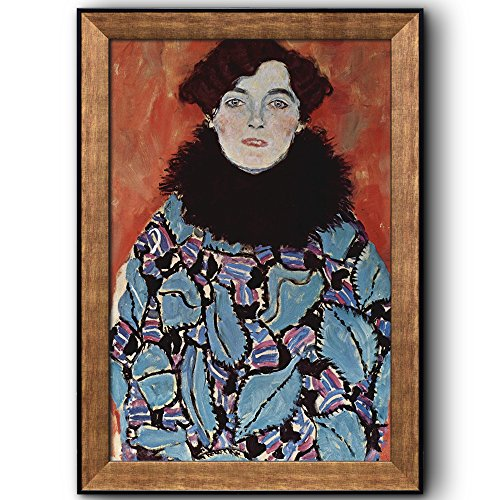 Portrait of Johanna Staude by Gustav Klimt Framed Art