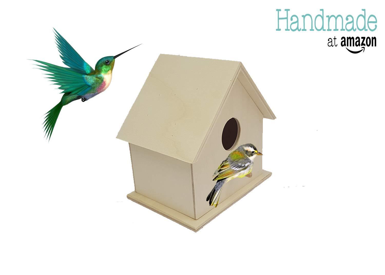 Bird Nesting Box Wooden Wild Bird Cottage Birdhouse