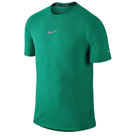 cec81c0f Image Unavailable. Image not available for. Color: Nike Mens Aeroreact S/S  Running Shirt 717972 (Small, Teal Charge/Black