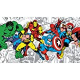 RoomMates JL1291M Ultra-Strippable Marvel Classics Character Mural, 6-Feet x 10.5-Feet, 1-Pack