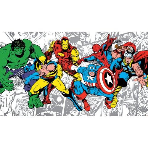 RoomMates JL1291M Ultra-Strippable Marvel Classics Character Mural, 6-Feet x 10.5-Feet, 1-Pack