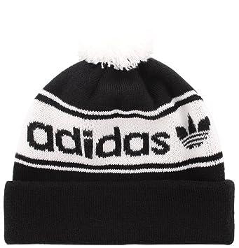 b83047042 adidas Men's Originals Pom Beanie Hat, Black/White, One Size: Amazon ...