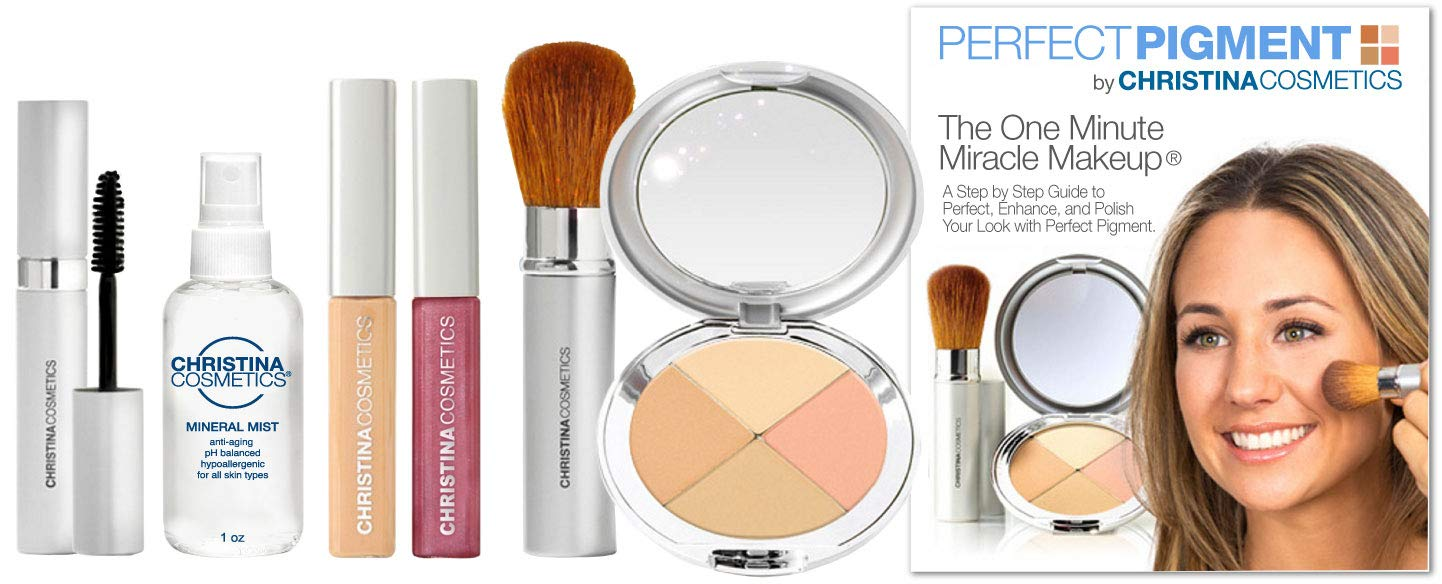 Christina Cosmetics Perfect Pigment 1: FULL SIZE 7 PIECE KIT - For Fair, Light or Medium complexions by Christina Cosmetics (Image #1)