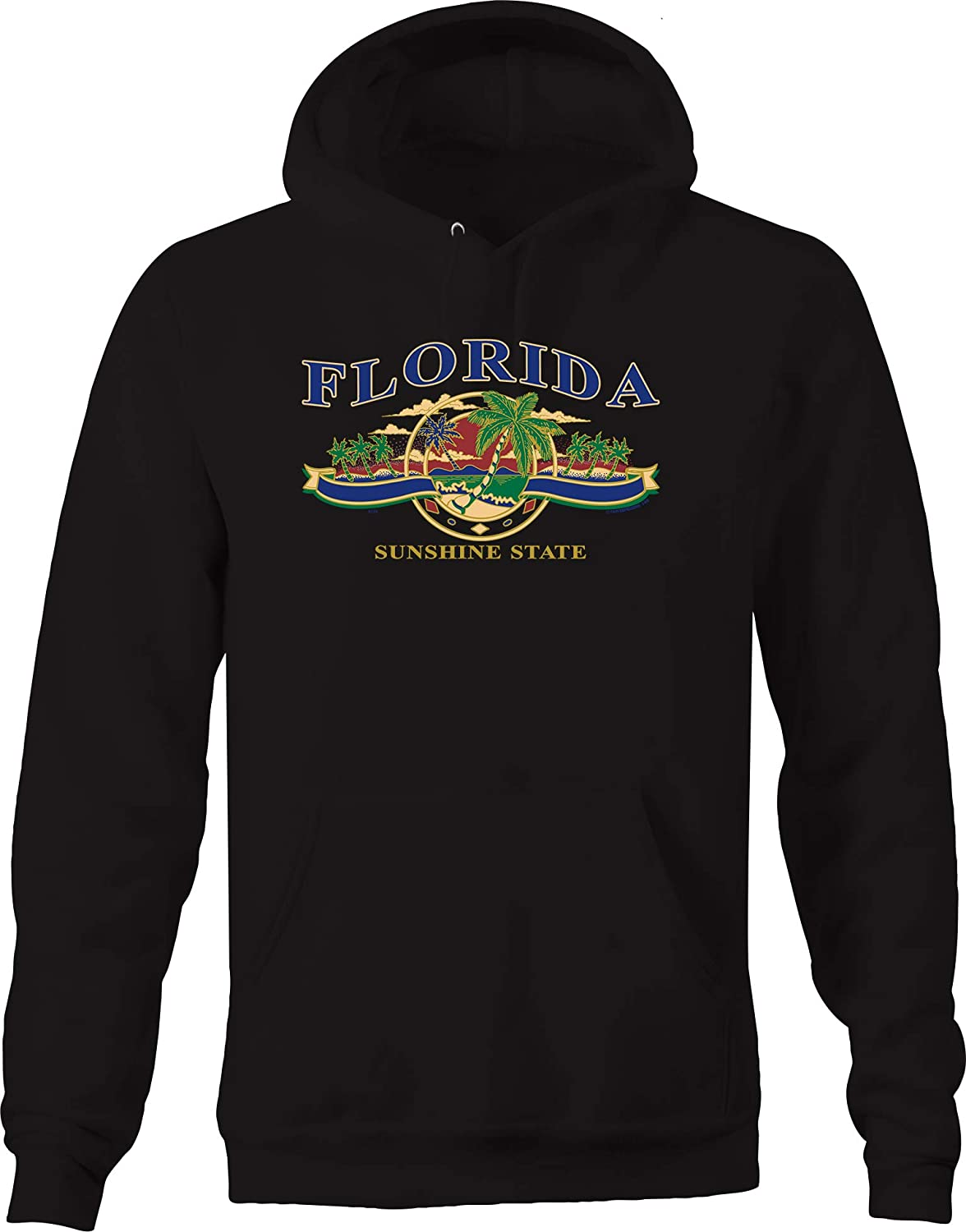 Florida Sunshine State Palm Trees Relaxing Ocean Beach Waves Hoodies for Men