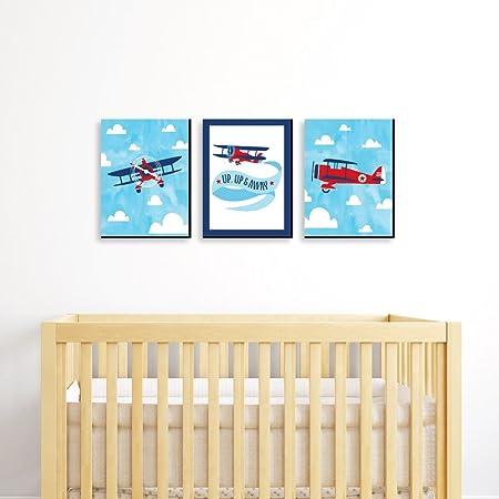NOT BRANDED CANVASPrtint Airplane Nursery Airplane Wall Decor boy Airplane Room Airplane Wood Sign Nursery Wood Sign Pilot in Training Wall Sign Aviation Nursery